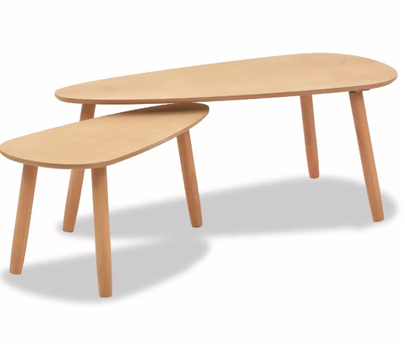 Lot de 2 tables gigognes en bois DRIP DROP