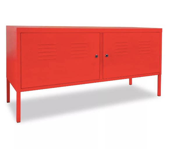 Meuble Tv Style Industriel En Metal Rouge Parker