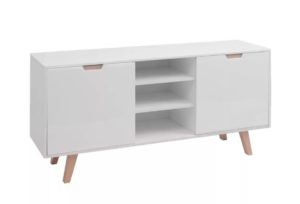 Buffet scandinave JONAS blanc brillant