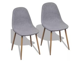 Lot de 2 chaises scandinaves grises LUDMILA