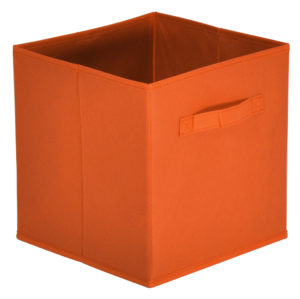 Lot de 10 paniers tiroirs KASEY en tissu orange