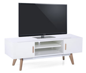 Meuble TV scandinave blanc KORG