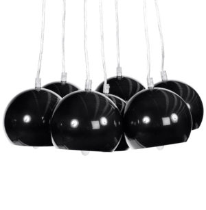 Lampes noires suspendues BONNY, suspension noire, suspension moderne noire, suspension vintage noire