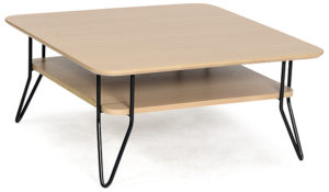 Table basse scandinave carrée en chêne KARLY