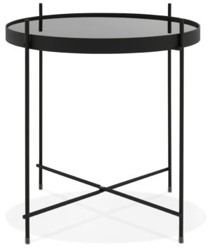 Table basse circulaire CLAUDIA noire