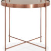 Table basse circulaire CLAUDIA or rose
