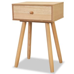 Lot de 2 tables de chevet en bois CECILIA