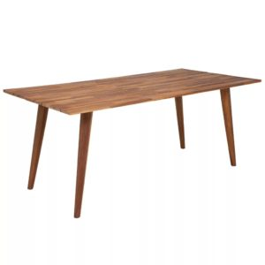 Table à manger rectangulaire en bois style scandinave ROLF