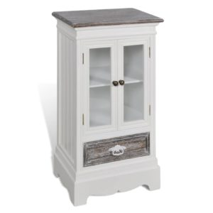 Armoire style classic chic vitrée blanc MARIE