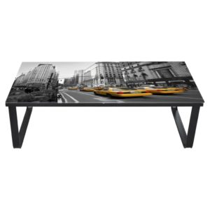 Table basse rectangulaire avec imprimé NEW YORK