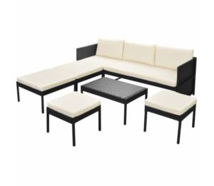 Ensemble tables et banc de jardin marron JULIANA