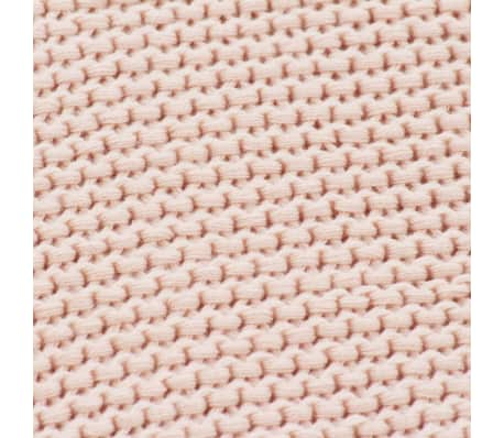 Plaid en coton rose ALINE