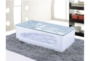 Table basse blanche ADRIANNA